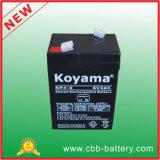 Bateria acidificada ao chumbo pequena do AGM da alta qualidade da bateria 6V4ah do UPS para a luz de rua