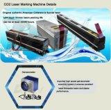 Máquina portable 10With20W de la marca del laser del tubo del metal del RF del CO2 para el plástico de madera
