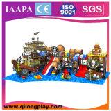 Equipo de interior comercial del patio de los niños del tema del océano (QL-027)