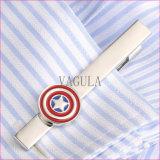 Grampo de laço 50 do presente do Pin de laço da qualidade da barra de laço de VAGULA Negócio De Corbata capitão América