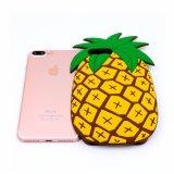 iPhone 6fashionable 3Dのかわいいシリコーンのパイナップル携帯電話の箱