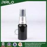 frascos de vidro opacos pretos do pulverizador 15ml com o pulverizador de alumínio preto da bomba