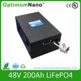 Baterias elevadas do lítio 48V 200ah da taxa da descarga para o uso Home solar fora da grade