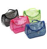 Le sac transparent de renivellement de PVC de nettoyage facile évident à l'extérieur le sac clair de produit de beauté de feutre