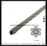 6 X37 Iwrc 304 Corda in lega di acciaio inossidabile