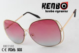 Frame dado forma borboleta com os óculos de sol os mais atrasados elegantes Km17102 do projeto da lente colorida