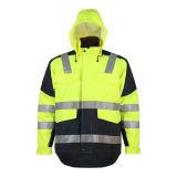 사려깊은 안전 재킷을 입히는 PU를 가진 Class3 En20471 300d 옥스포드