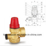 Valvola a sfera d'ottone certificata CE del cunicolo di ventilazione di sicurezza (IC-3060)
