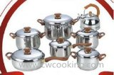 Bakélite Juego Bateria 14pzs Acero Inoxidable de vaisselle de cuisine de 14 PCS