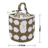 Sac d'emballage imperméable à l'eau de déjeuner de toile de coton de fermeture de cordon de sac de cadre de déjeuner