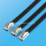 Edelstahl-Kleber-überzogener Kugel-Verschluss-Kabelbinder