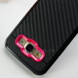 Kohlenstoff-Faser-rückseitiger Deckel-Fälle für Kasten der Samsung-Galaxie-J5
