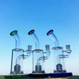 Conduite d'eau de fumage en verre portique de plate-forme pétrolière de Perc de mini de pouce 6-7 de hauteur emboîtement d'oiseau