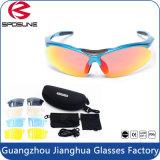 2016の広告宣伝のためにセットされる熱い販売のDropshipping二重レンズの青いフレームによって分極されるスポーツのサングラスレンズ