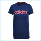 Douane om T-shirt Van uitstekende kwaliteit van de Koker van de Dames van de Kraag de Korte Lange
