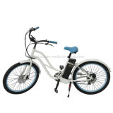 250W Electric Bike Bateria de lítio Disco Travão Brushless Motor Liga de alumínio LCD Display En15194 Hongdu Electric Bicycle Man Beach Cruiser E-Bike