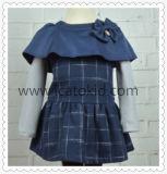 Платье конструкции осени высоко голубое классическое для платья хлопка