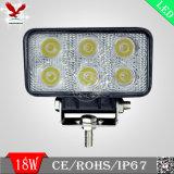 18W het LEIDENE Lichte LEIDENE van de Auto Licht van het Werk voor de Vrachtwagen en de Tractor van de Jeep van Auto's