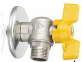 Válvula de gas de cobre amarillo de la cuerda de rosca masculina del vector/de la pared