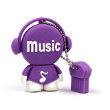 Música personalizada Guy PVC USB Flash Drive Lovely Gift Key