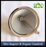 Filtro do cone do aço inoxidável, filtro de café perfurado