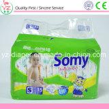 Somy 상표 S15 처분할 수 있는 인쇄된 최고 흡수성 아기 기저귀
