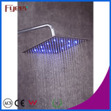 Fyeer cromado cabeza de ducha 3 colores cambiado LED grifo delgado