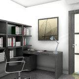Luz de tabela dobrável em metal cinza para trabalho de leitura de escritório