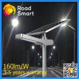 Luz solar de la noche del soporte de la calle del camino del poste con la batería de litio