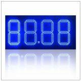"""10 """" 방수 옥외 LED 연료비 표시 전시, IR 원격 제어 시간 환율 디지털 7개의 세그먼트 LED 유가 표시"""