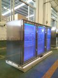 Edelstahl-dreifache Tür-Rückseiten-Stab-Kühlvorrichtung unter Stab-Kühlraum