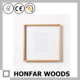Cornice di legno naturale della foto della decorazione della parete di semplicità