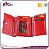 Faniの最新の小さいワニの本革の女性札入れ、財布、お金袋