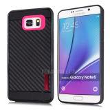 Cassa Shockproof del telefono della fibra del carbonio per la nota 5 della galassia di Samsung