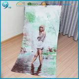 綿のベロアはカスタマイズされたデザイン写真のビーチタオルを印刷した