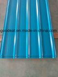 25-205-1050 PPGL acanalado galvanizado cubierto color PPGI para la hoja del material para techos del metal