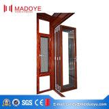 Дверь складчатости алюминиевого профиля стеклянная