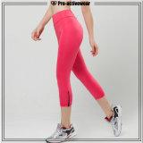 Calças vermelhas da ioga do exercício de Sportwear da aptidão das mulheres do OEM