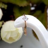 Anello di diamante popolare superiore delle donne dell'oro della Rosa di modo dei monili