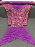 熱く世界的な中国のハンドメイドの編まれた人魚のテール毛布