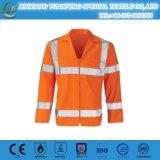 Chemise de franc de foret de sûreté pour chemises 100% de franc de sûreté de vente en gros de chemise de coton d'ouvrier d'industrie les longues