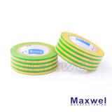 Fita elétrica do PVC do verde amarelo (130Z)