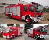 camion dei vigili del fuoco della pompa di 6000L Isuzu, dimensione del camion dei vigili del fuoco della gomma piuma