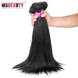 Cabelo 100% peruano do vison do Virgin reto de seda do Weave do cabelo humano