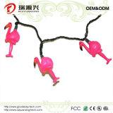 Luzes bonitas de Stiring dos flamingos para ao ar livre, Wedding