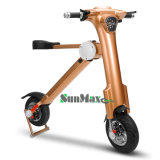 Scooter se pliant de couleur d'or électrique du scooter 2017