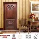 Fertigkeit geschnitzte kundenspezifische Schlafzimmer-feste hölzerne/hölzerne Innentür (GSP2-039)