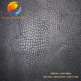 O projeto do crocodilo Shinny o couro artificial de superfície polonês para sacos das sapatas