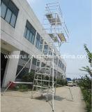 Andamio de aluminio móvil aprobado el 12m del SGS para el mantenimiento