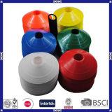 Cones coloridos do disco do treinamento do futebol da alta qualidade para a prática